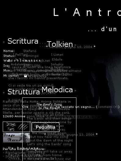 Il sito di Tengai su Firefox